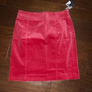 NWT 8 red velvet skirt holiday